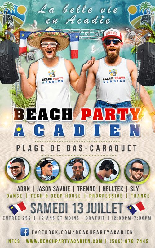 Beach Party Acadien #2 - 13 juillet 2019