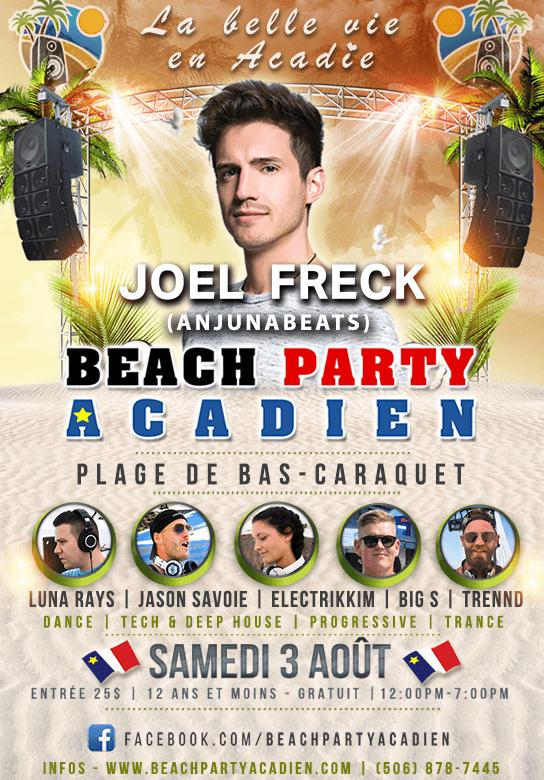 Beach Party Acadien #3 - 3 août 2019