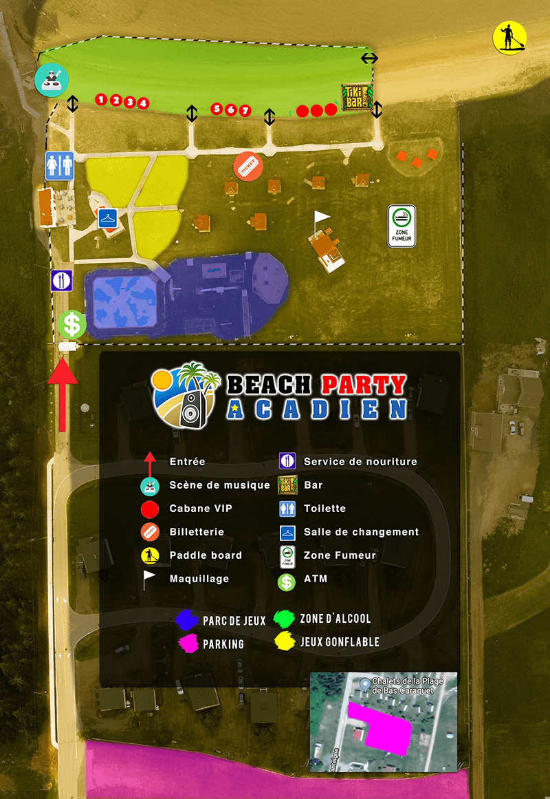 Beach Party Acadien Plan Du Site 2019